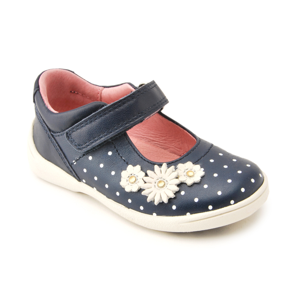 55db6cacda5e8 Start-rite Super Soft Daisy, Navy Leather First Walking Shoes ...