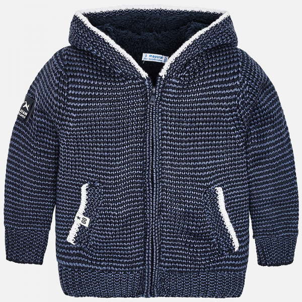 Mayoral navy hooded zip up