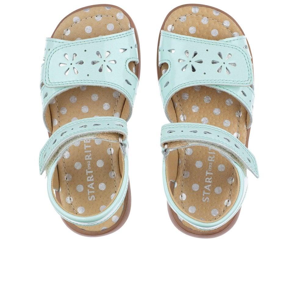 Start Rite Flutter Mint Patent Sandal