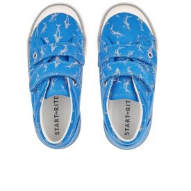 Start Rite Wave Blue Canvas Shoe