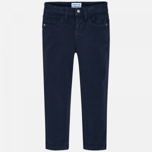 Mayoral navy slim fit chino style trousers