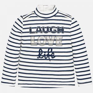 Mayoral Slogan Striped Top