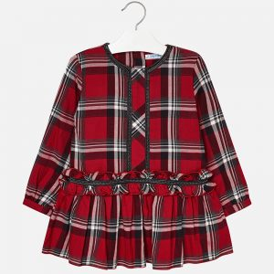 Mayoral Ruffle Tartan Dress
