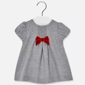 Mayoral Red Bow Detail Dress