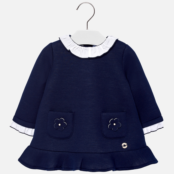 Mayoral navy collared dress