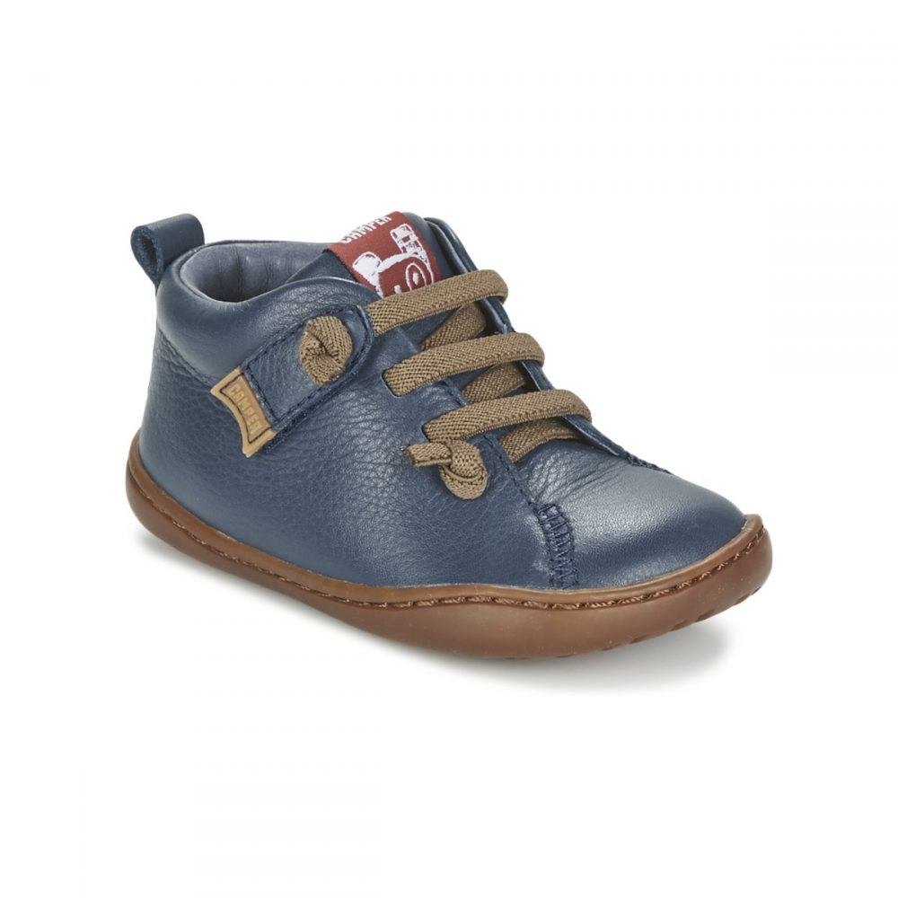 2035cca2948db Home Products Camper Peu Navy Leather First Walking Shoe. camper-toddler- navy-shoe-brown-lace-rubber-sole