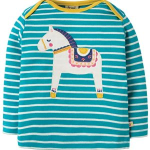 Frugi Bobby Applique striped long sleeve