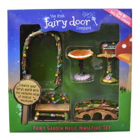 The Irish Fairy Door Fairy Garden  Set