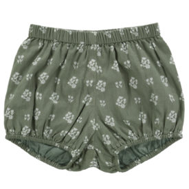 Little Cotton Clothes Poppy Bloomers – sedum green floral