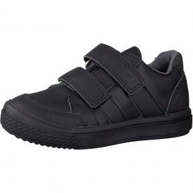 Ricosta Ethan Black Leather School Shoe