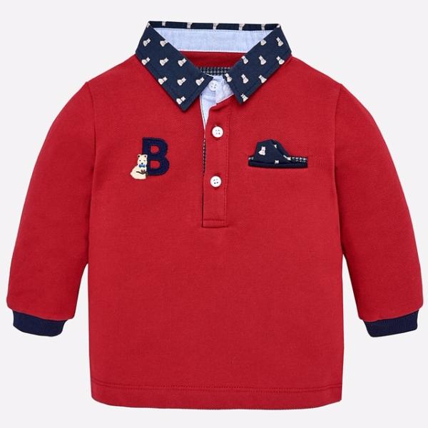 Mayoral Bear Detail polo shirt