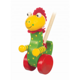 Orange Tree Toy Dinosaur Push Along