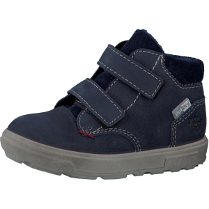 Alex-navy-ankle-toddler-boot-fleece-lined-two-velcro-straps-big-sole-shoe