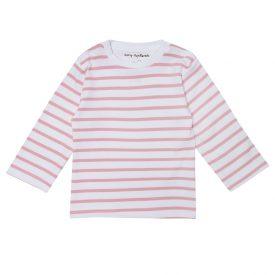 Dotty Dungarees Pink Stripe Breton Top