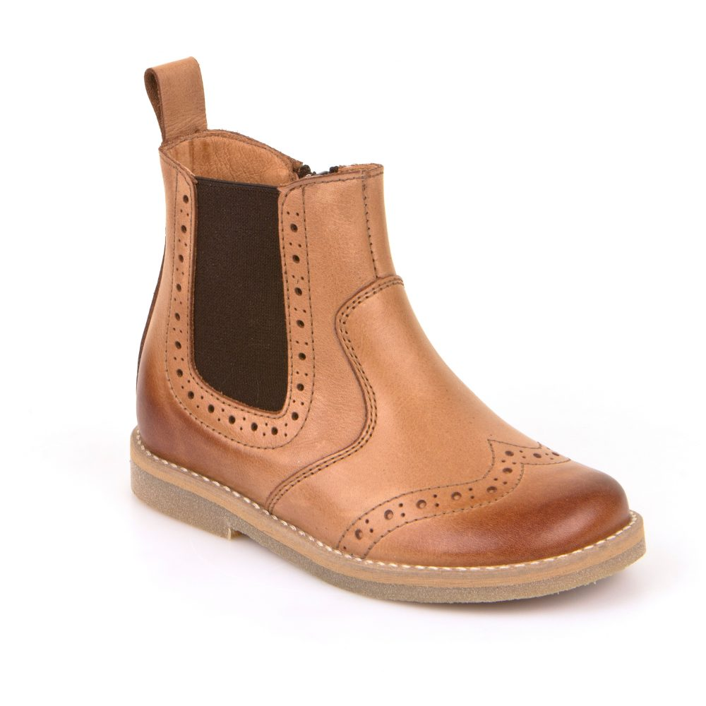 7a0fa078469 Froddo Brogue Boots in Cognac - Treehouse Childrenswear
