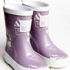 Grass & Air Purple Icecream Colour Changing Wellies