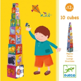 DJECO 10 Stacking Cubes – Funny