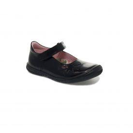 Petasil Donna, Black Patent Toe Bumper Shoe