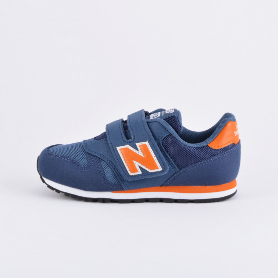 New Balance Velcro Fastening Trainer Navy and Orange