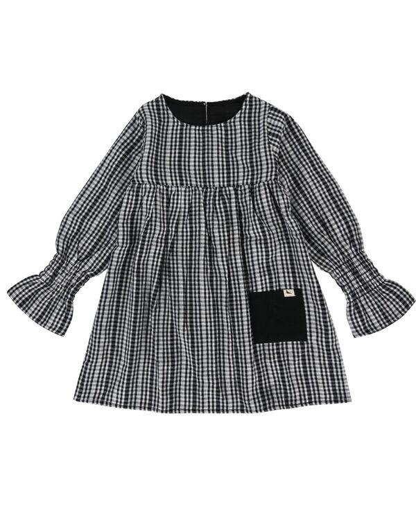 monochrome-dress-reversibe-product-image-long-detailed-sleeve-black-pocket-girls-dress