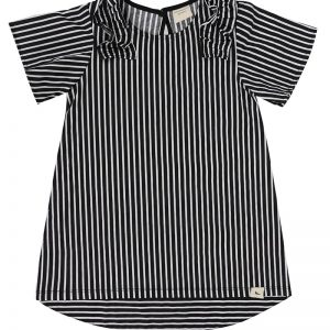 monochrome-vertical-stripe-short-sleeve-girls-dress-product-image