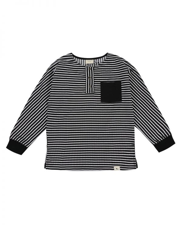monochrome-stripe-woven-kids-shirt-long-sleeve-product-image-of-organic-kids-clothing