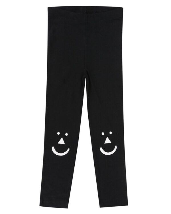 black-leggings-geomatric-smile-knee-caps-unisex-leggings