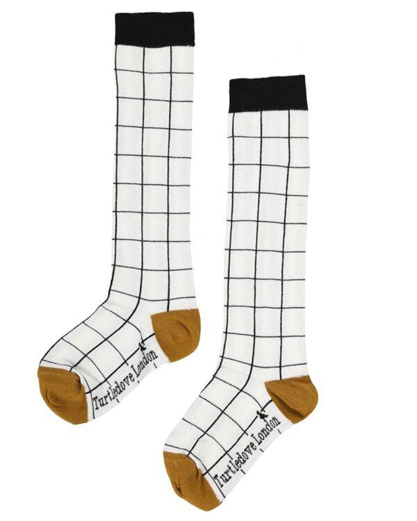 Knee-High-Sock-Patterns-Grid-Girls-Children-Organic-Socks