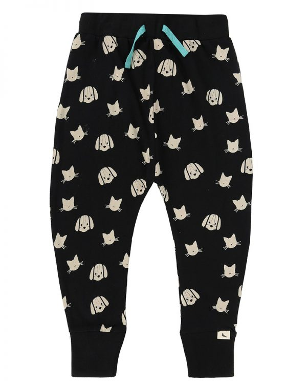 black-percey-maurice-harem-trousers-kids-cats-and-dog-unisex-joggers