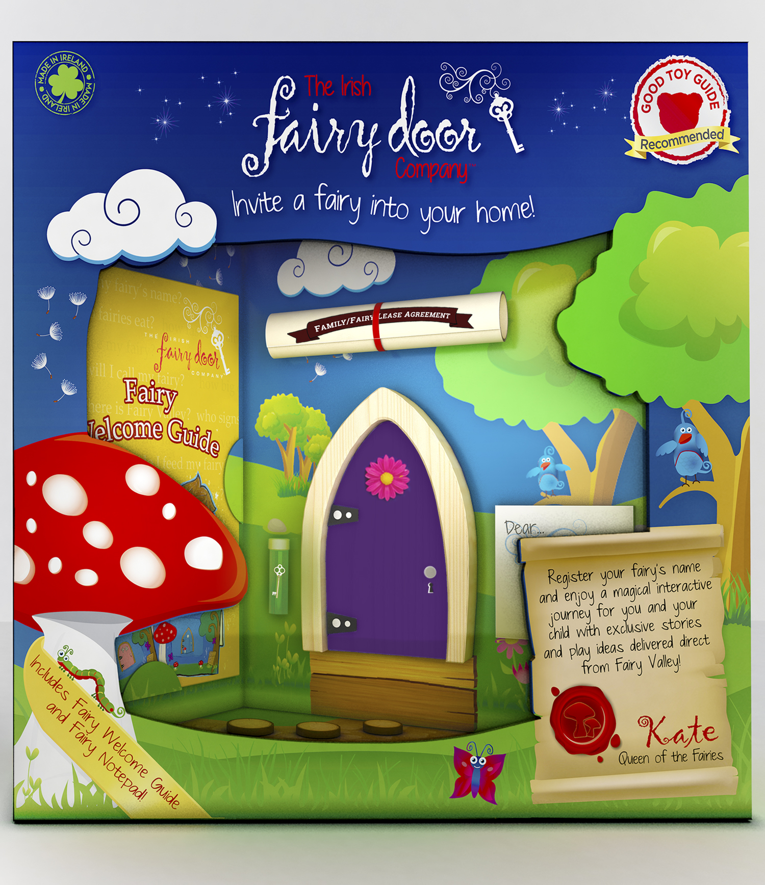 The Irish Fairy Door Pink Blue Purple Yellow And Red