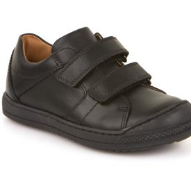 Froddo Max, Black Leather Toe Bumper School Shoe