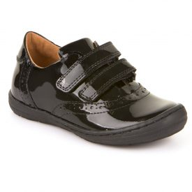 Froddo Morgan, Black Patent Closed-In School Shoe