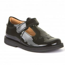 Froddo Harper Black Patent T-Bar Shoe
