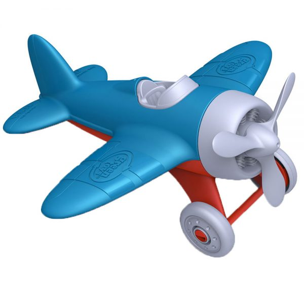 greentoy_aeroplane_blue_red_plastic