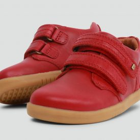 Bobux Port Red Closed-In Leather Shoe