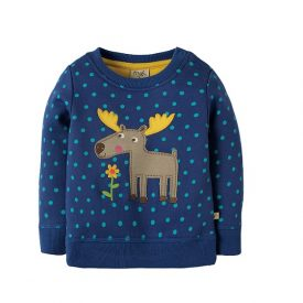 Frugi Moose True Blue Jumper