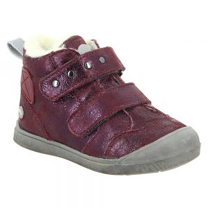 noel-mini-oreky-burgany-sparkle-metallic-ankle-boot-fleece-lined-two-straps