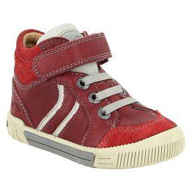 Noel Mini Raimi Red High Top Leather Ankle Boot
