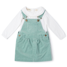Dotty Dungarees Mint Cord Dress