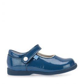 Start-Rite Nancy, Blue Patent Velcro Shoe