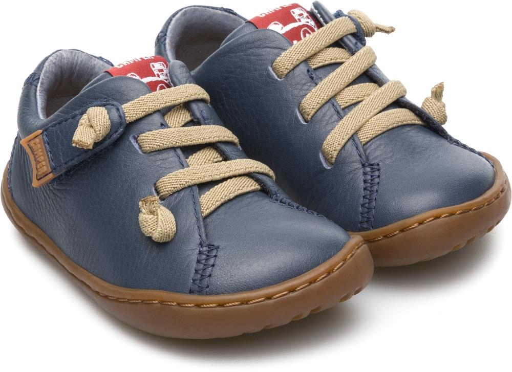 c48fafc6ebfac Camper Peu Navy Leather First Walking Shoe - Treehouse Childrenswear