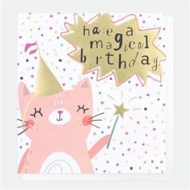 Caroline Gardner Fairy Cat Birthday Card