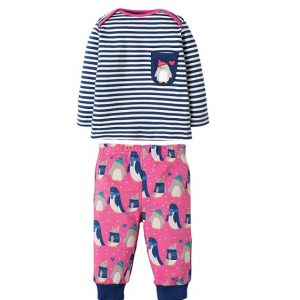 penguin-kids-pyjamas-pink-blue-stripe-two-piece-set-from-frugi-organic-cottton-girls
