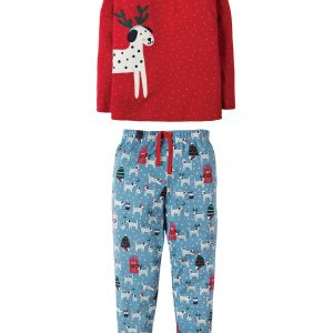 Frugi Jamie Jim Jams dalmation dotty