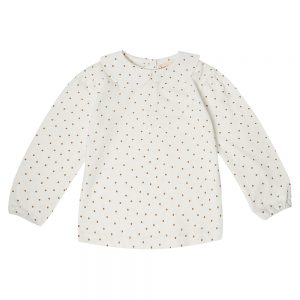 Dotty Dungarees Golden Peter Pan Style long sleeved top with gold spots