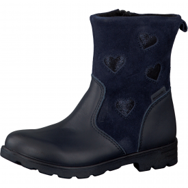 Ricosta Stephanie, Navy Loveheart Girls Boot
