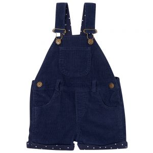 Dotty Dungarees navy unisex winter cord shorts