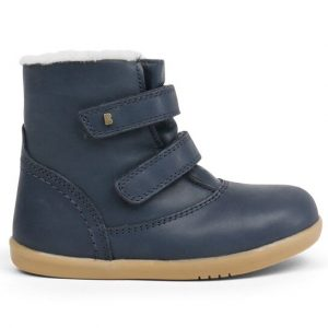 bobux-aspen-kids-half-calf-boot-navy-fleece-lining-two-velcro-straps-caramel-sole-soft-stitching