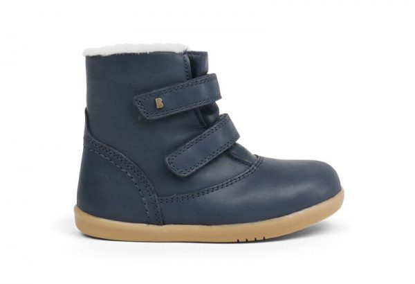 bobux-aspen-kids-half-calf-boot-navy-fleece-lining-two-velcro-straps-caramel-sole-soft-stitching