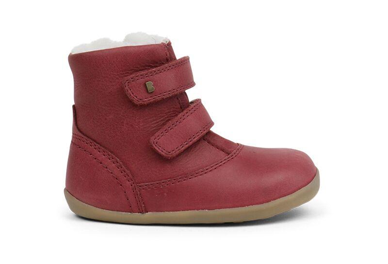 46a6a3521184 Bobux Aspen Dark Red Fleece Lined Boot - Treehouse Childrenswear